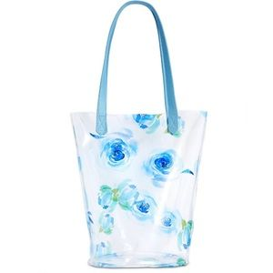Clear Floral Tote